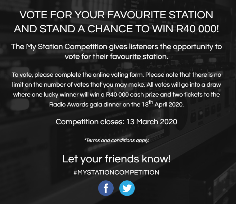 South African Radio Awards: WIN R40,000!
