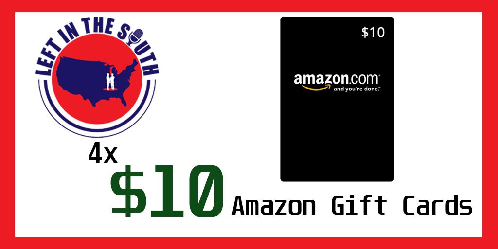 Giving away 4 $10 Amazon Gift Cards