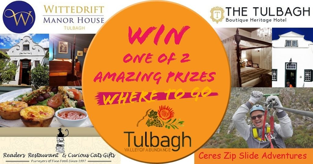 2 Great Prizes to be won - Midweek Tulbagh Holiday